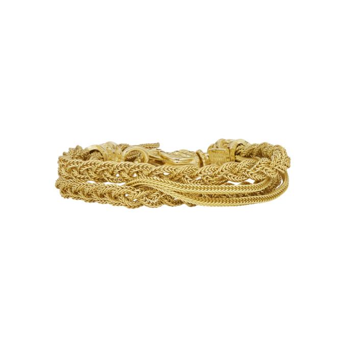 Image of Emanuele Bicocchi Gold Double Braided Bracelet