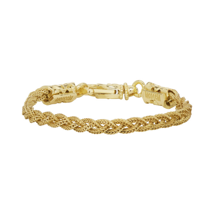 Image of Emanuele Bicocchi Gold Small Braided Bracelet