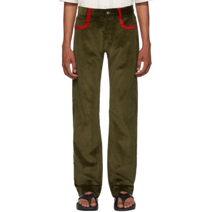 Image of Missoni Green Corduroy Trousers
