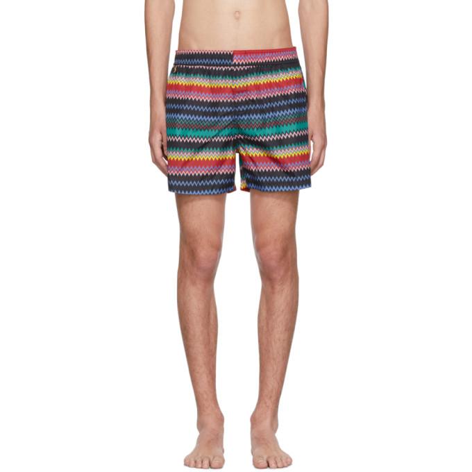 Image of Missoni Black Zig Zag Swim Shorts