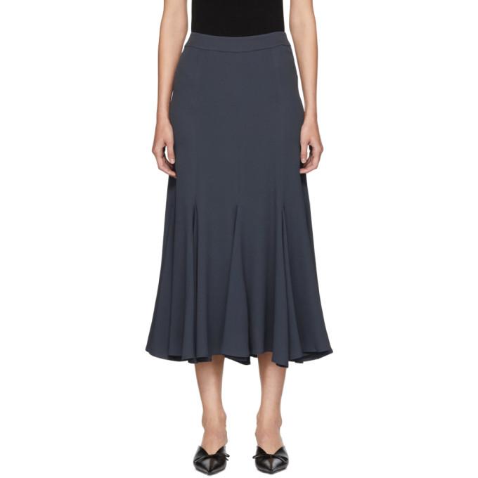 Image of Sies Marjan Grey Holly Marocain Skirt