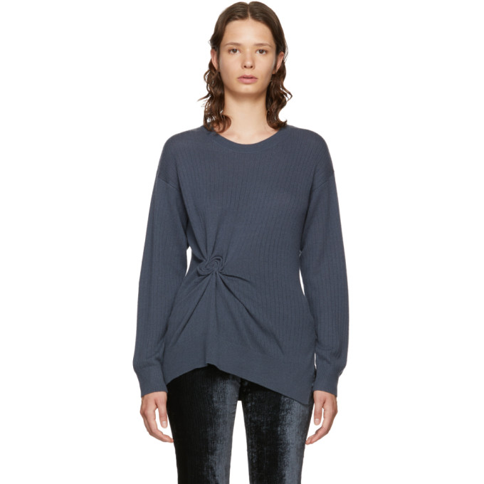 Image of Sies Marjan Grey Cashmere Rosette Brynn Sweater