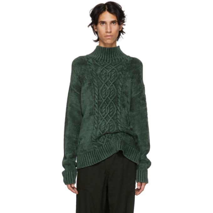 Sies Marjan - Rory High Neck Velour Sweater - Mens - Green in Seaw