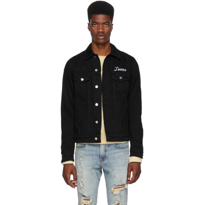 Image of Amiri Black 'Lovers' Trucker Jacket