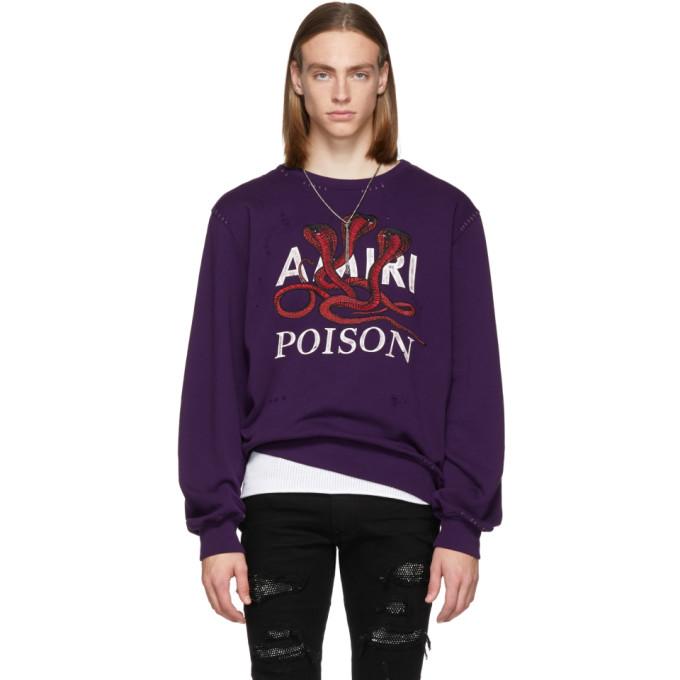 Amiri パープル Poison スウェットシャツ