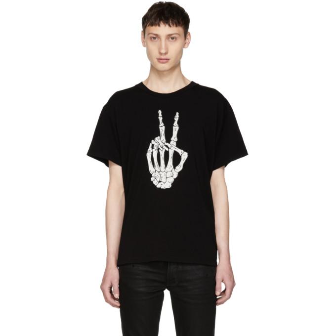 Image of Amiri Black Peace Bones T-Shirt