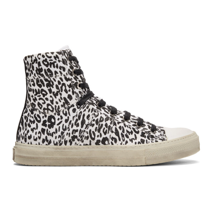 Amiri White & Black Vintaged Glitter Sneakers