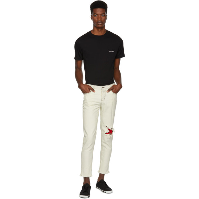 ENFANTS RICHES DEPRIMES Distressed Jeans in White