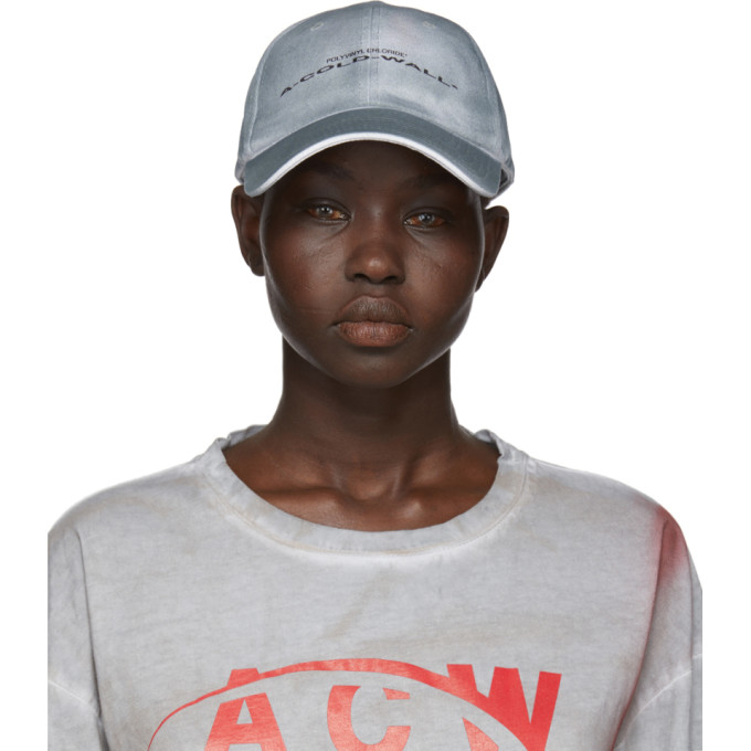 A-COLD-WALL* GREY STRETCHED LOGO CAP