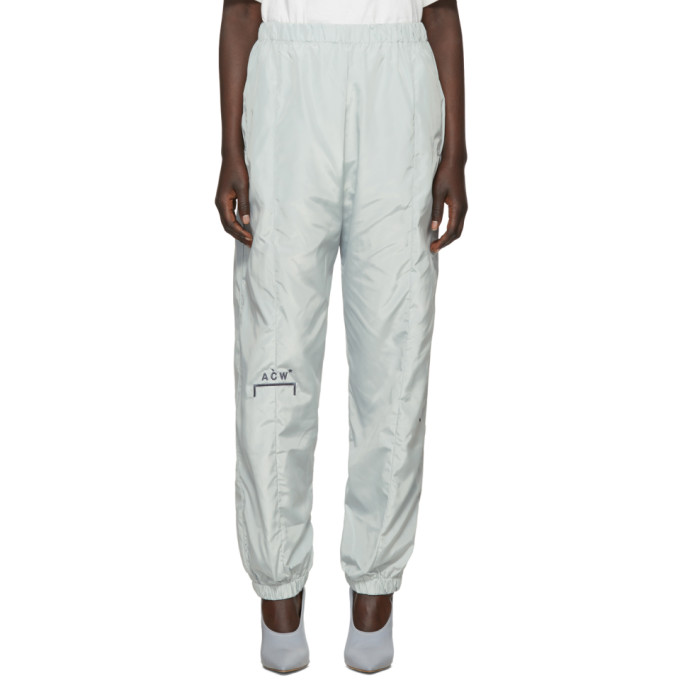A-COLD-WALL* GREY EMBROIDERED NYLON LOUNGE PANTS