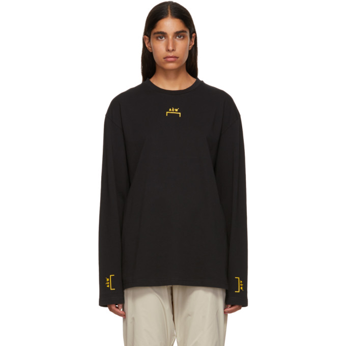Image of A-Cold-Wall* Black Bracket Tape Long Sleeve T-Shirt