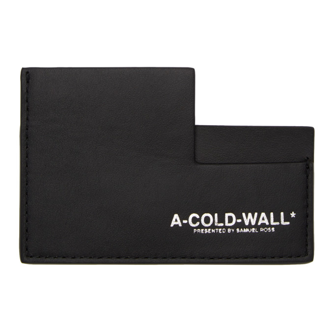 Image of A-Cold-Wall* Black Leather Card Holder