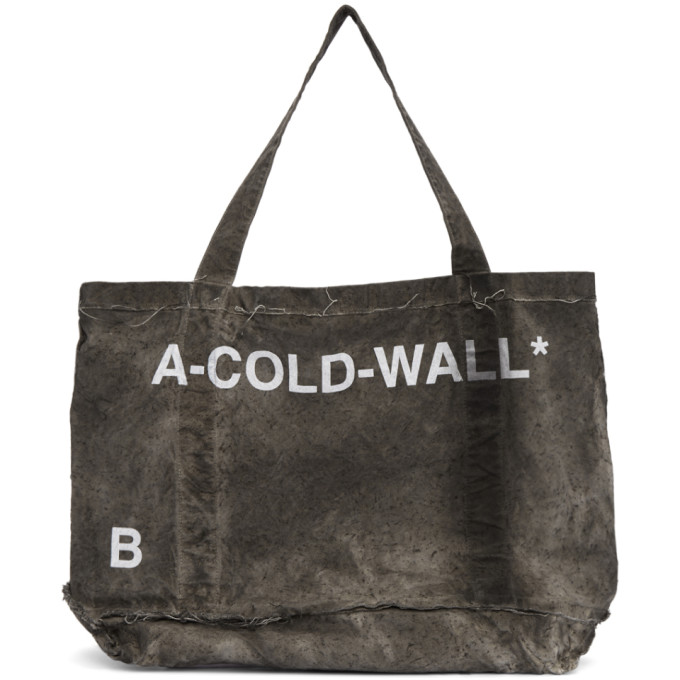 A-Cold-Wall* Grey Cotton Frayed Tote