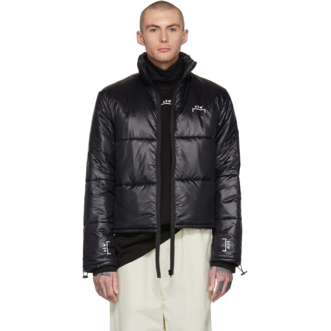 Image of A-Cold-Wall* Black Down Puffa Coat