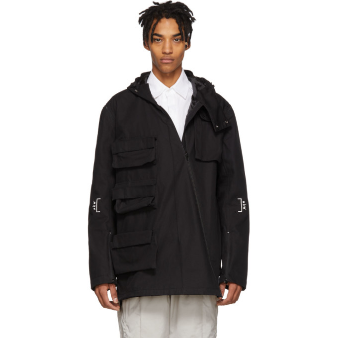 Image of A-Cold-Wall* Black Detachable Sleeves Cargo Coat
