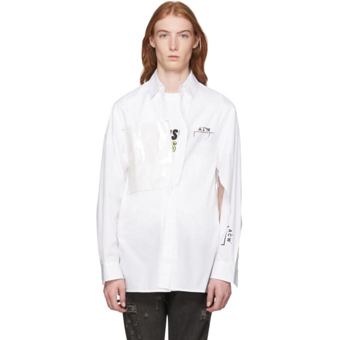 A-Cold-Wall* Chemise a logo en coton blanche