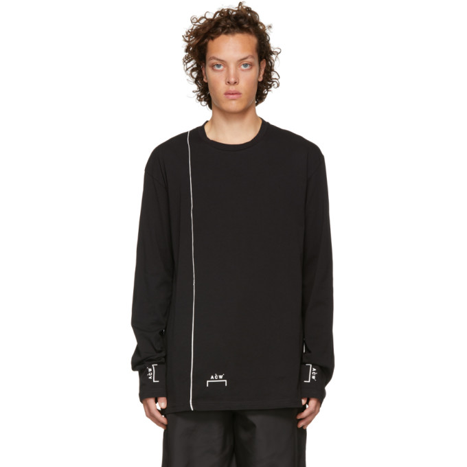 A-COLD-WALL* A-Cold-Wall* Contrast Stripe Longsleeved T-Shirt - Black