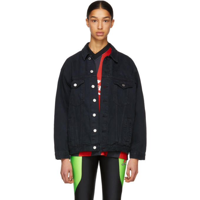 Image of Martine Rose Black Oversized Denim Jacket