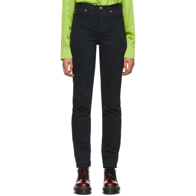 Image of Martine Rose Black High-Waist Denim Jeans