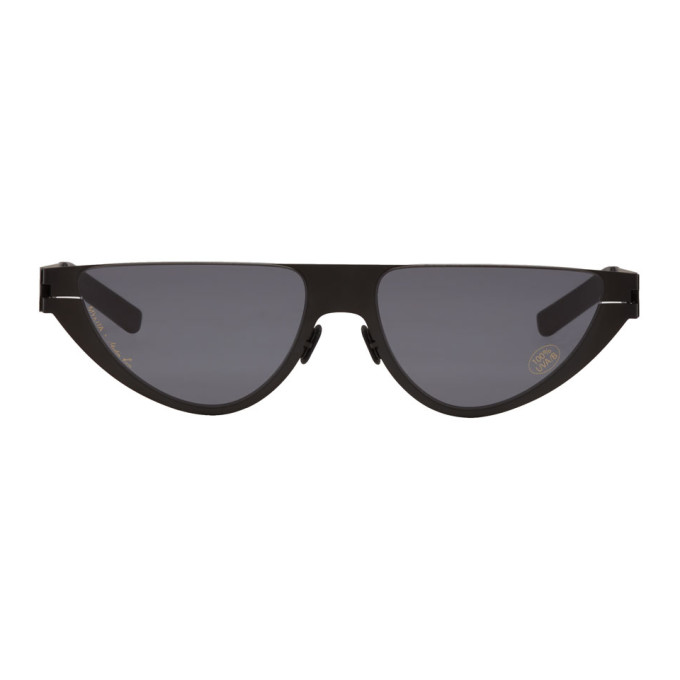 Image of Martine Rose Black Mykita Edition Kitt Sunglasses