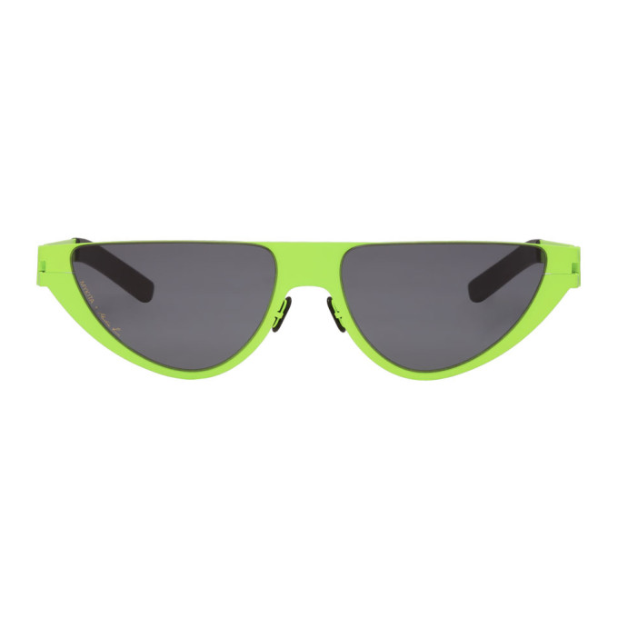 Image of Martine Rose Green Mykita Edition Kitt Sunglasses