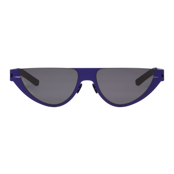 Image of Martine Rose Blue Mykita Edition Kitt Sunglasses