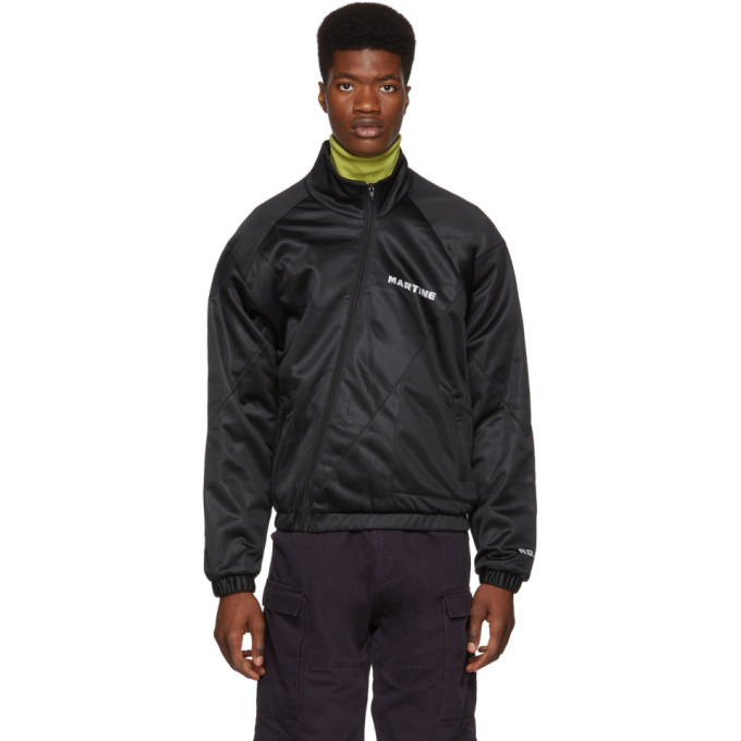 Image of Martine Rose Black Twist Track Jacket