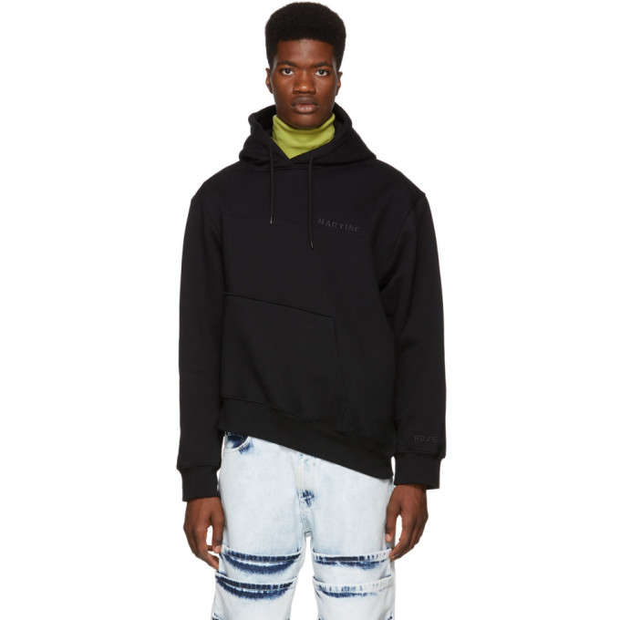 Image of Martine Rose Black Twisted Hoodie