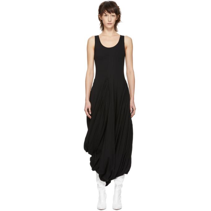 Y/project Y/PROJECT BLACK JERSEY DRAPED DRESS