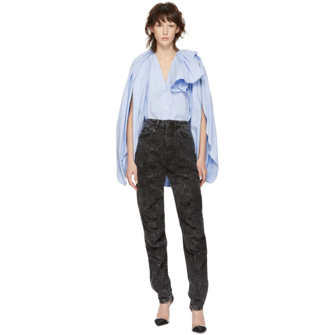 Y/project Y/PROJECT BLACK RUFFLE JEANS