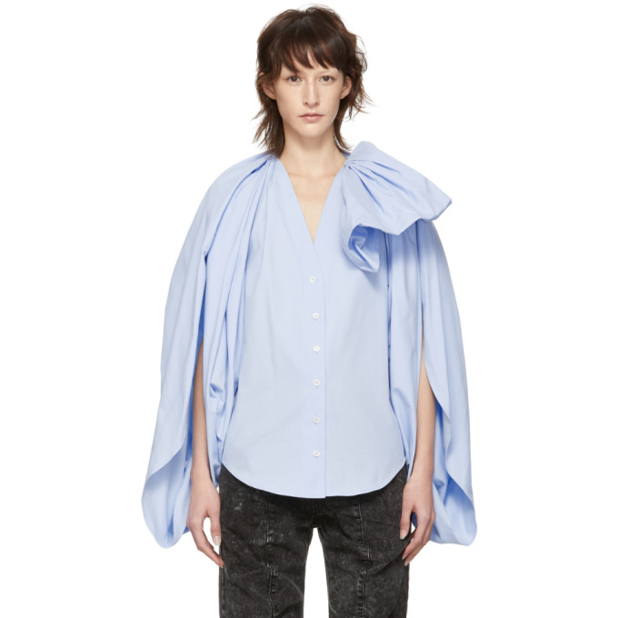 Y/project Y/PROJECT BLUE BOW BLOUSE