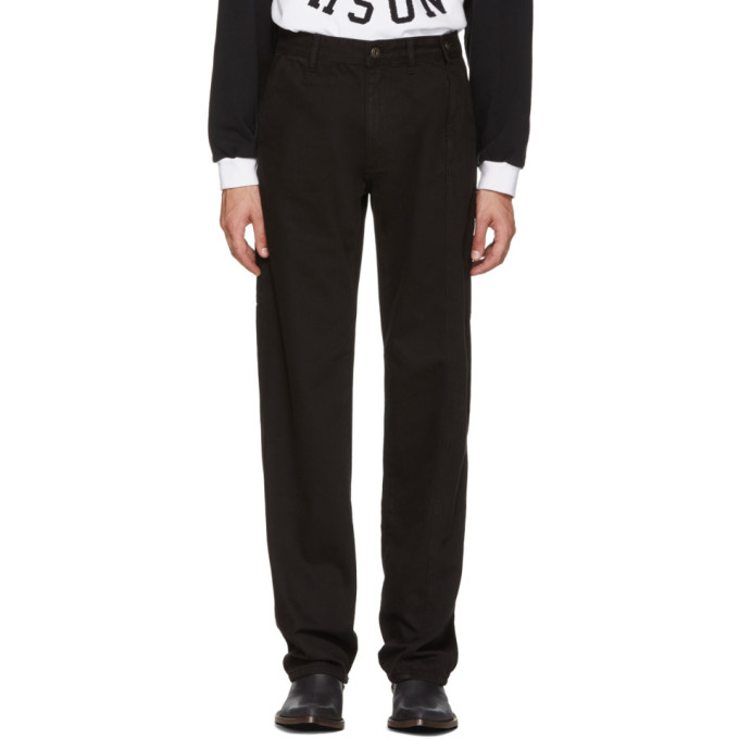 Image of Y/Project Black Side-Zip Jeans
