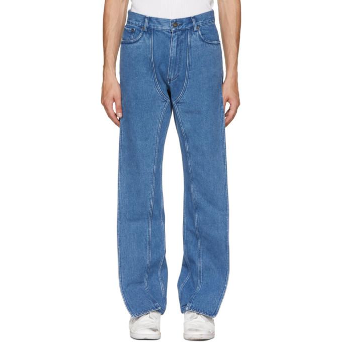 Y/Project ブルー XL ポケット ジーンズ