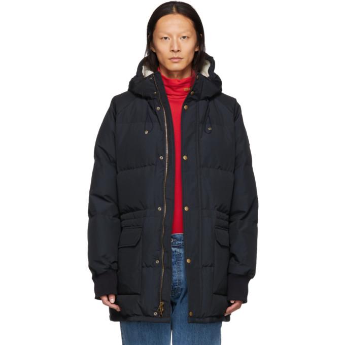 Image of Aimé Leon Dore Black Down Hooded Jacket