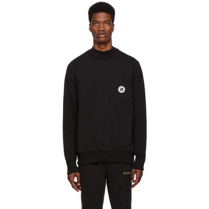 Image of Aimé Leon Dore Black Pocket Sweatshirt
