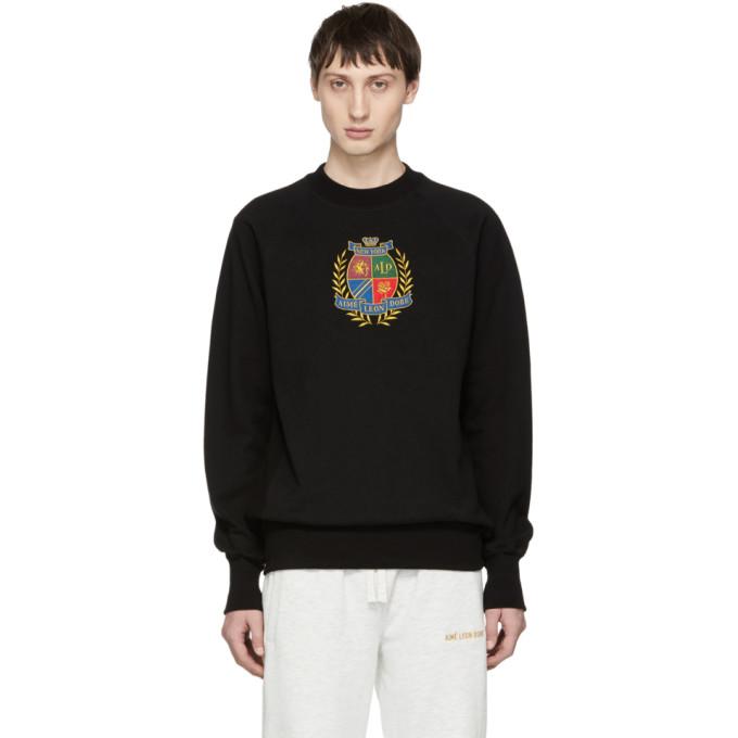 Image of Aimé Leon Dore Black ALD Crest Sweatshirt