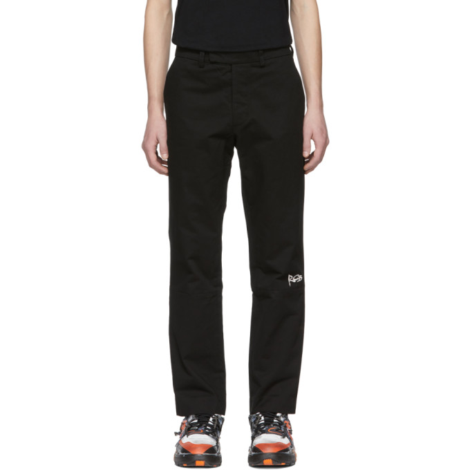 ROCHAMBEAU Rochambeau Black Pipe Trousers in Anthracite