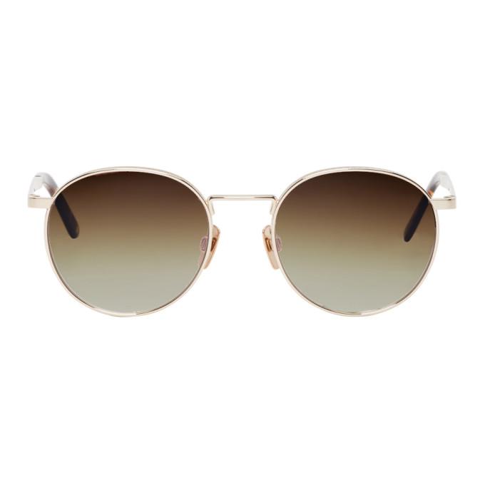 Image of Hed Mayner Gold Voyager Glasses