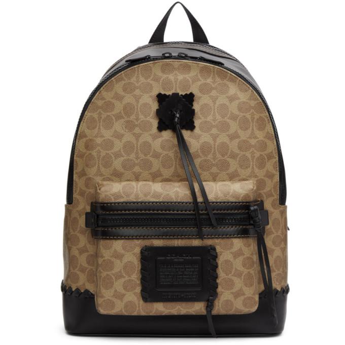 Coach 1941 Beige & Black Signature Academy Backpack