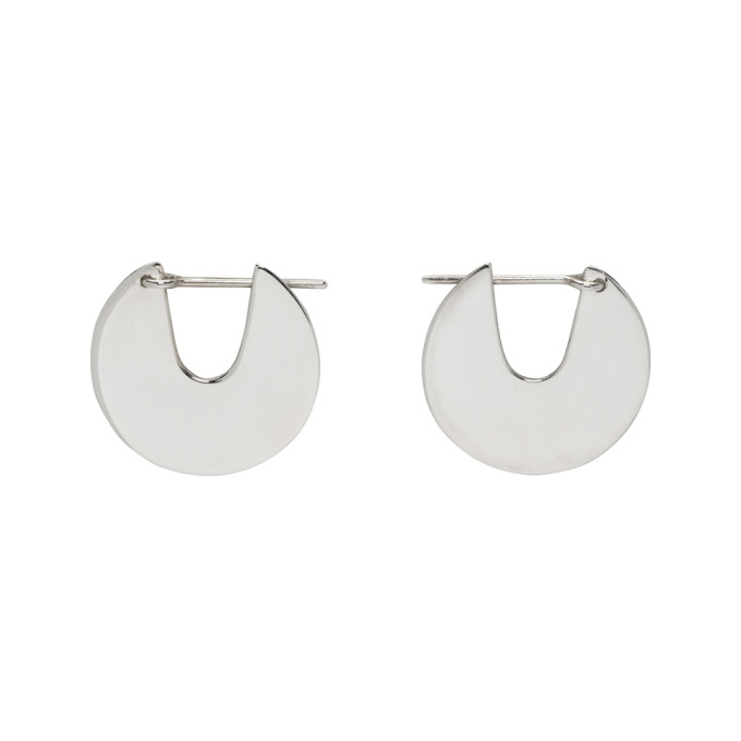 Image of Saskia Diez Silver Small Paillettes Earrings