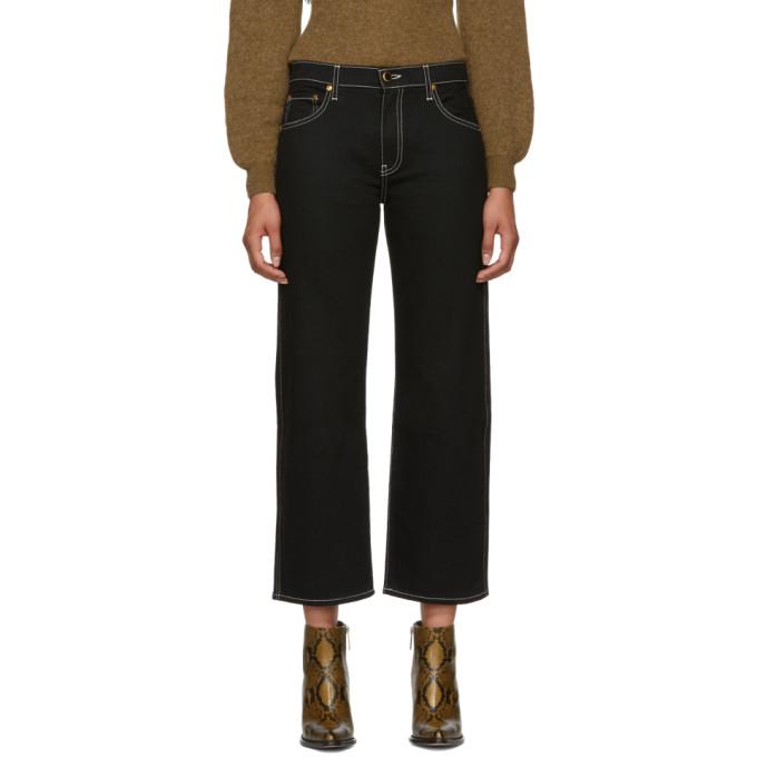 Khaite Black Wendall Jeans