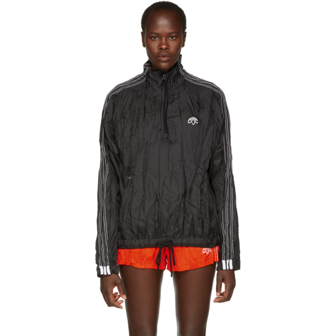 Image of adidas Originals by Alexander Wang Black Adibreak Windbreaker