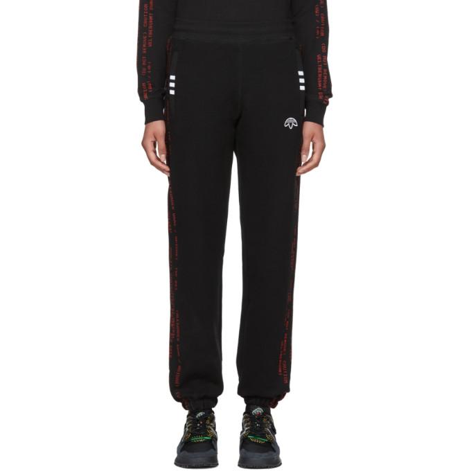 adidas Originals by Alexander Wang Black Logo Jogger Lounge Pants