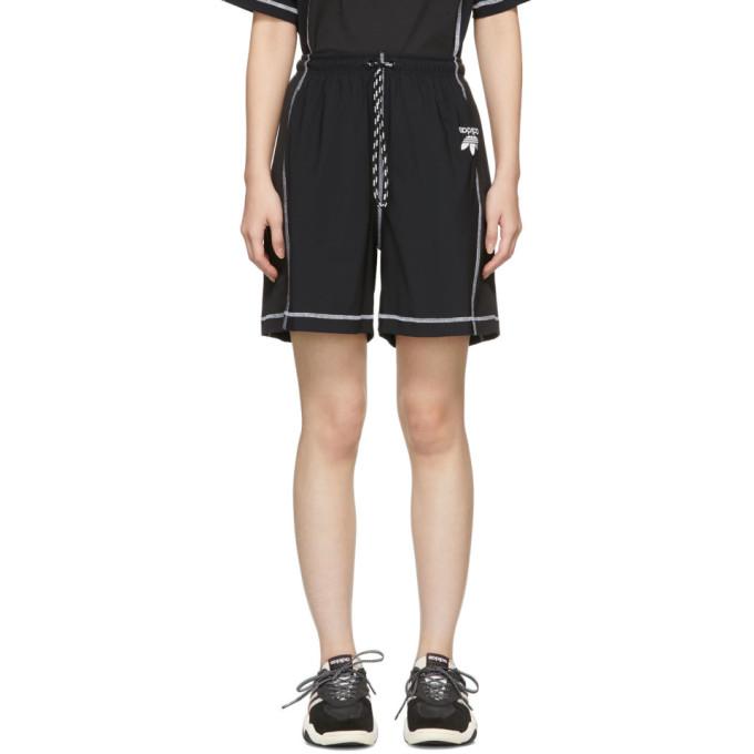 Image of adidas Originals by Alexander Wang Black Logo Shorts