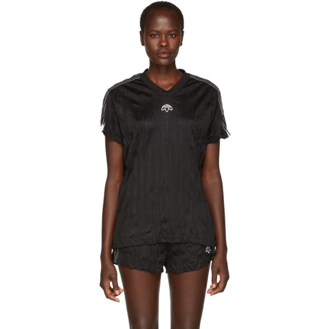 Image of adidas Originals by Alexander Wang Black Jersey T-Shirt