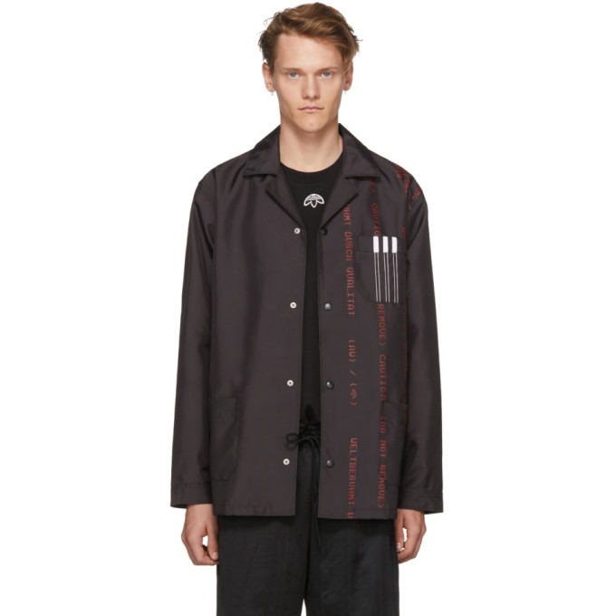Image of adidas Originals by Alexander Wang Black Coach Jacket