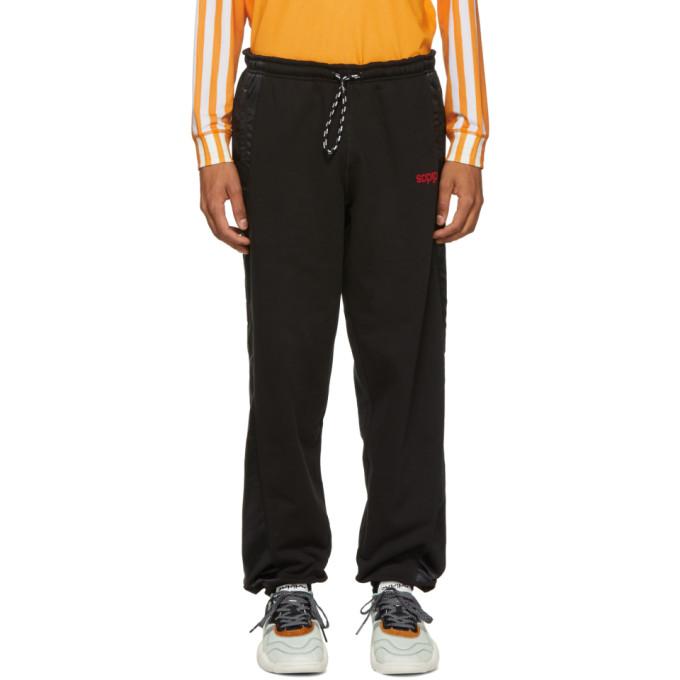 Image of adidas Originals by Alexander Wang Black Jogger Lounge Pants