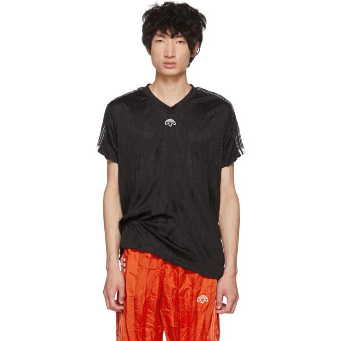 adidas Originals by Alexander Wang Black Regular Soccer Jersey T-Shirt