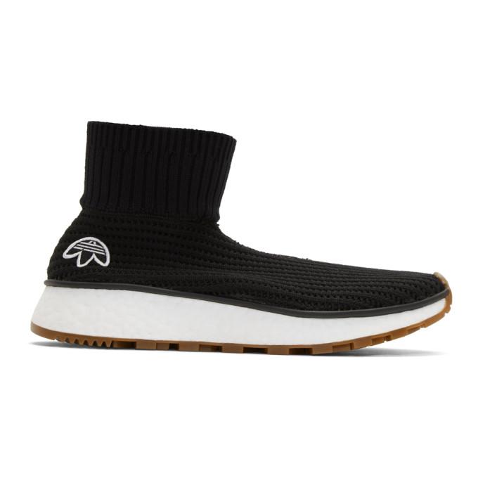 adidas Originals by Alexander Wang Black Run Clean High-Top Sneakers