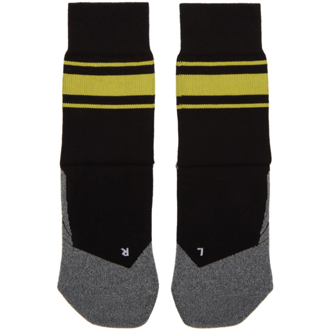 DISTRICT VISION District Vision Black And Yellow Falke Edition Sindo Socks in Black/Yello